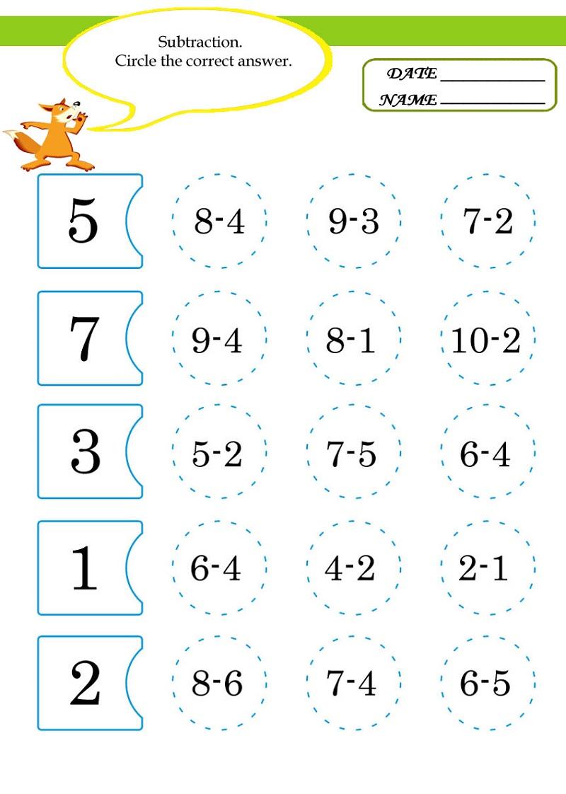 Free Math Worksheets To Print For Kindergarten