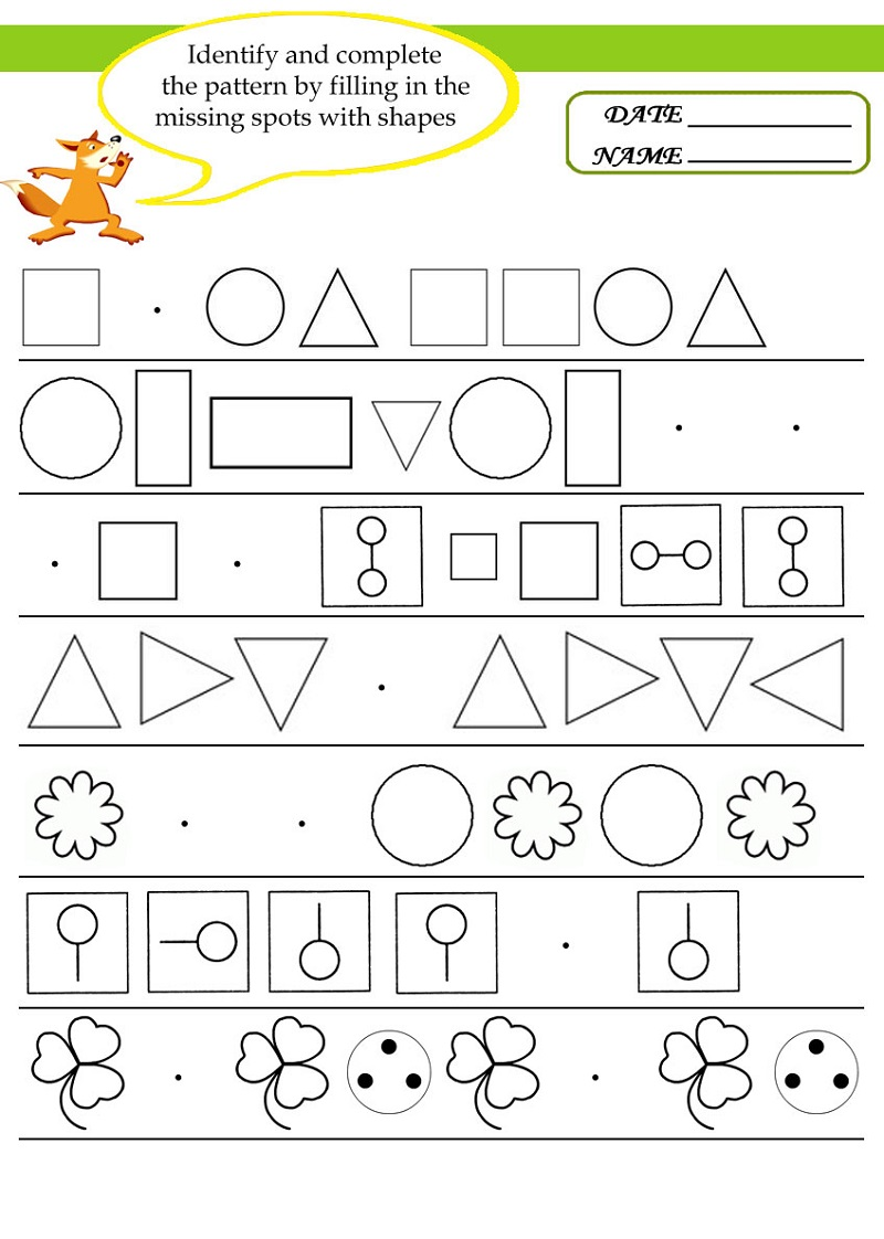 Free Math Worksheets To Print For Kindergarten