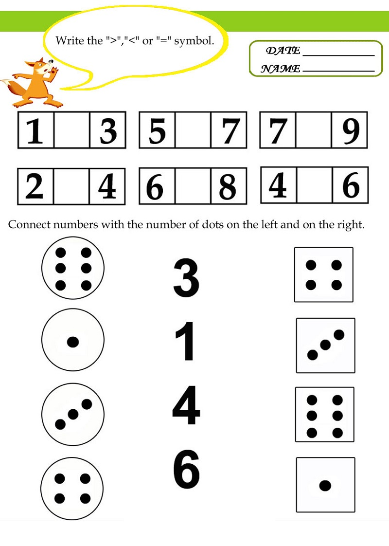 Free Math Worksheets To Print Numbers