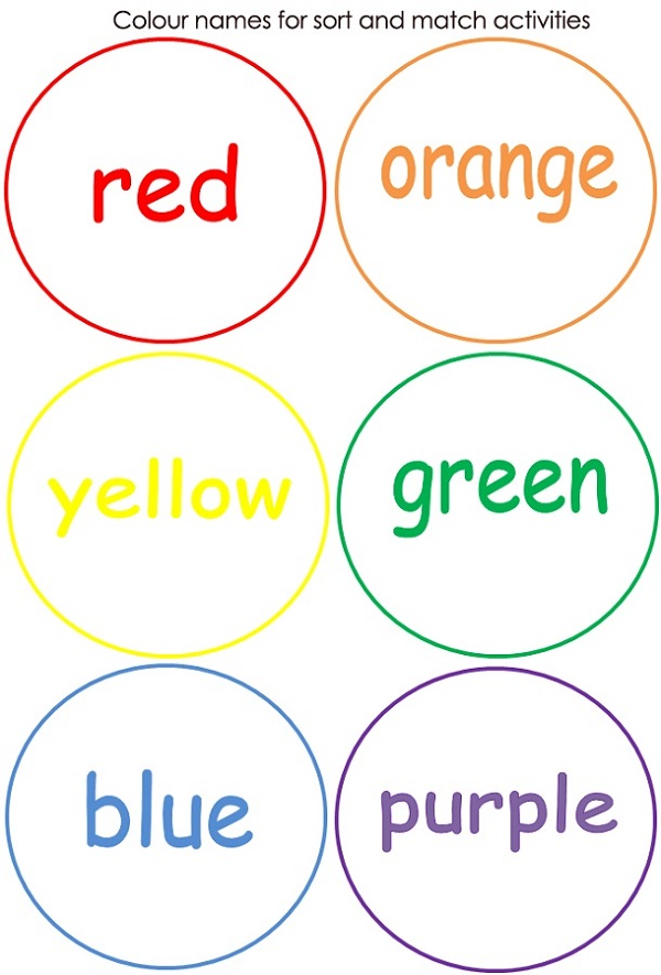 Free Printable Activities Colors