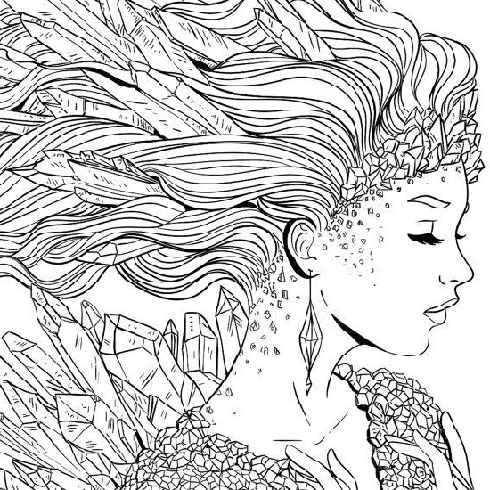 Free Printable Coloring Pages For Adults Advanced Woman