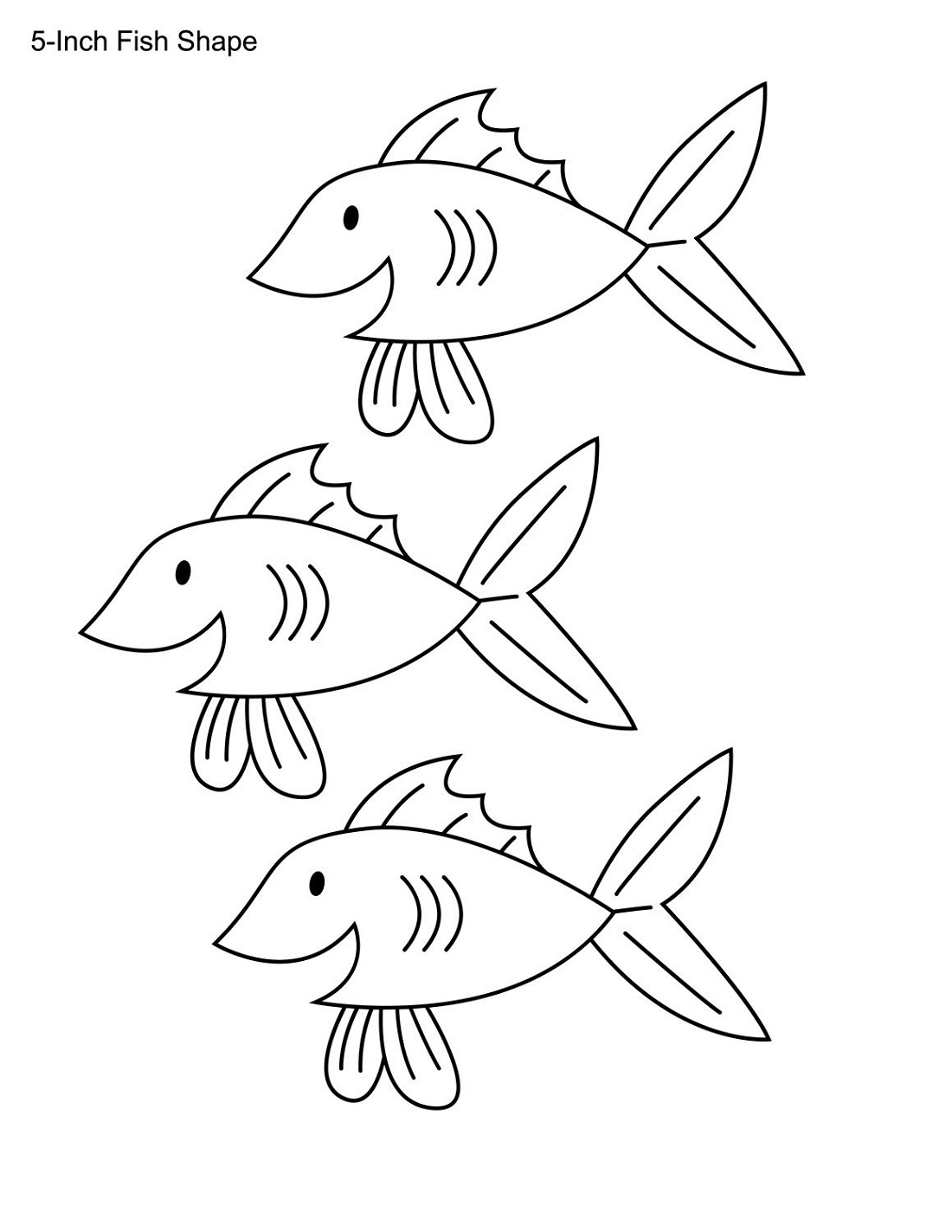 Free Printable Pages For Preschoolers Fish