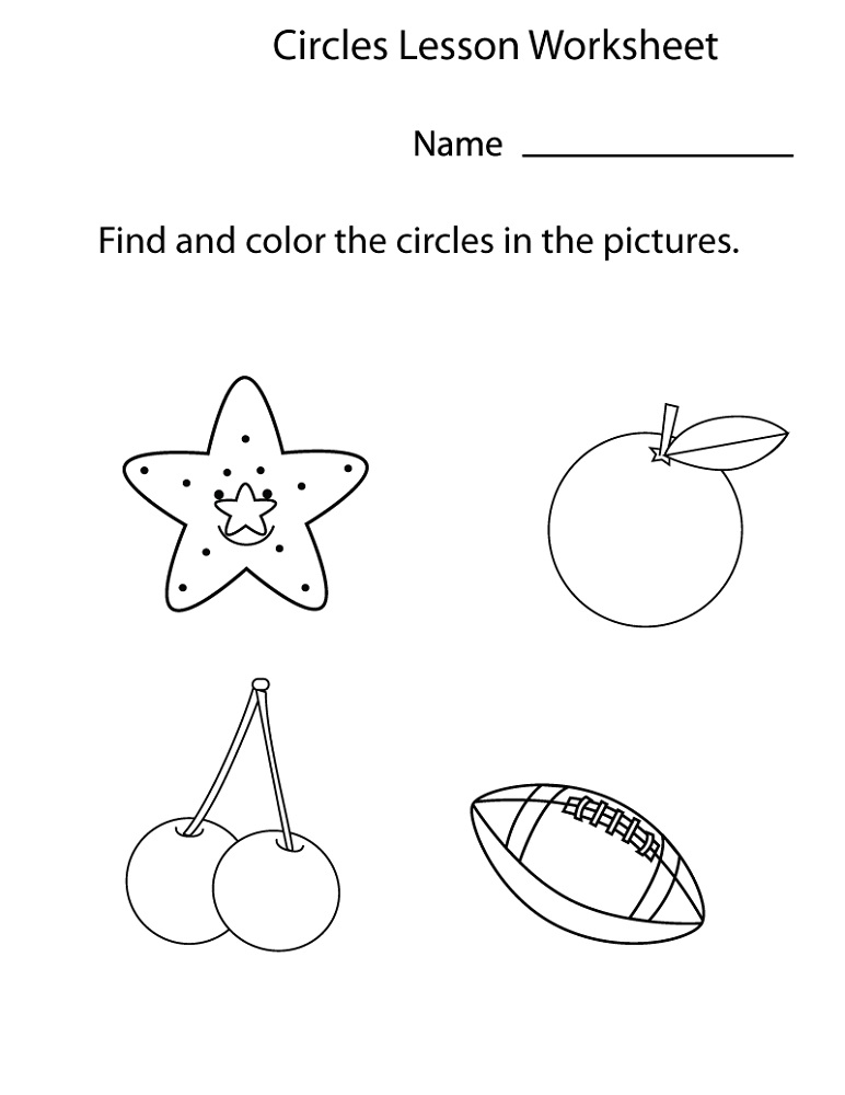 Free Printable Pages For Preschoolers Shape