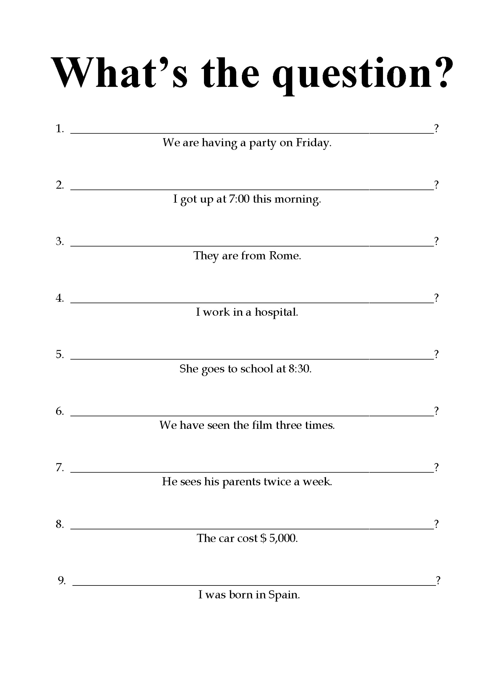 Free Printable Worksheets For Elementary Students English