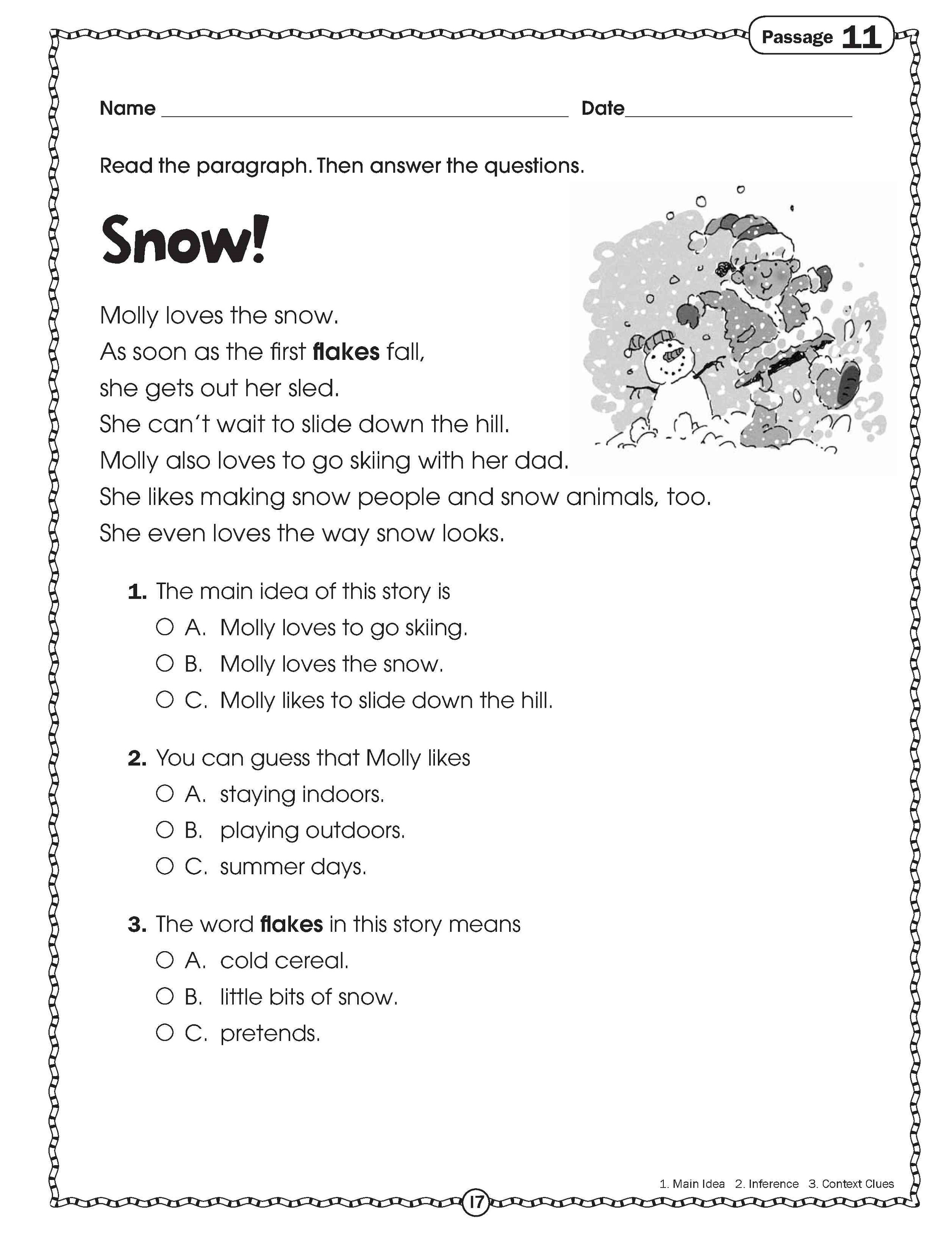 Free Printable Worksheets For Elementary Students Reading
