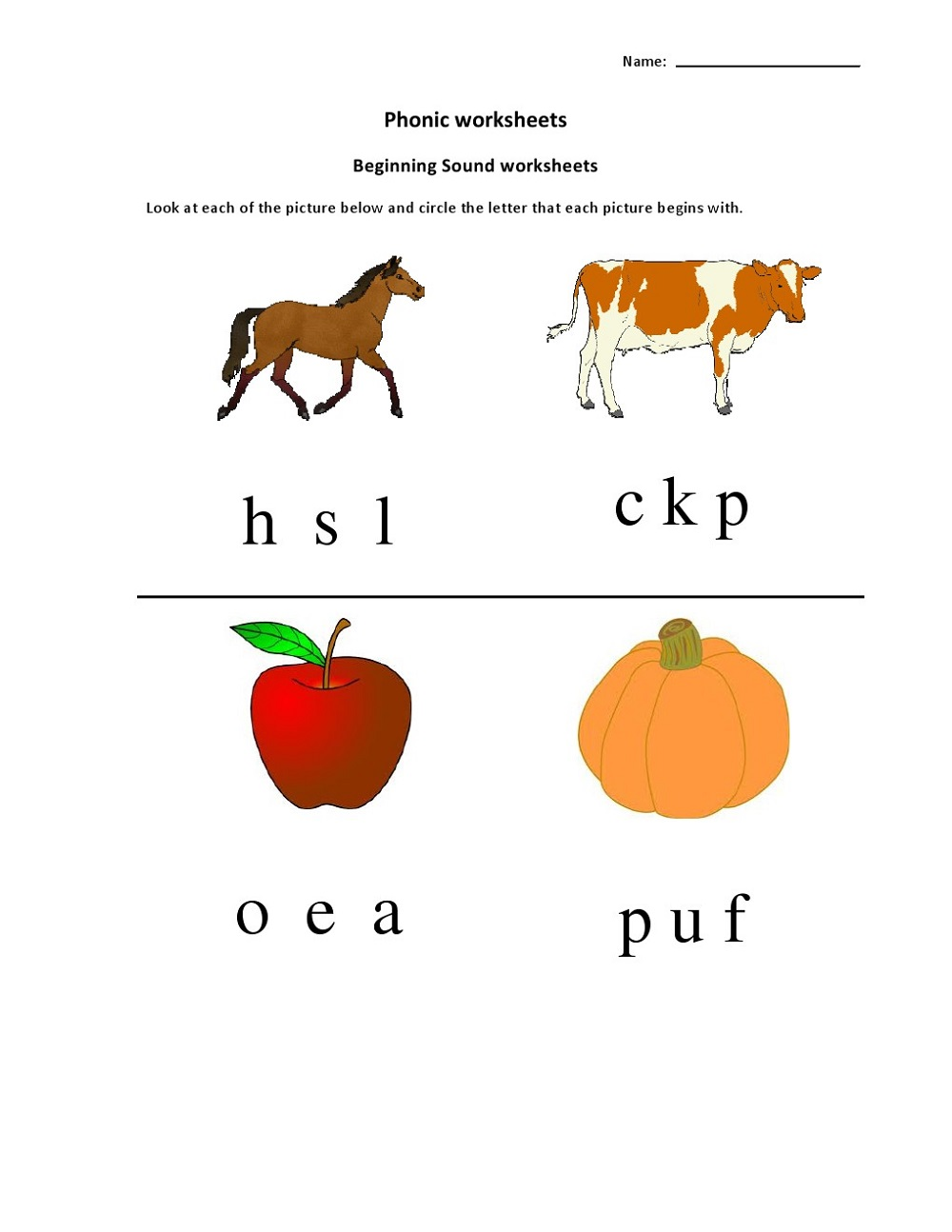 Free Printable Worksheets For Lkg Phonic