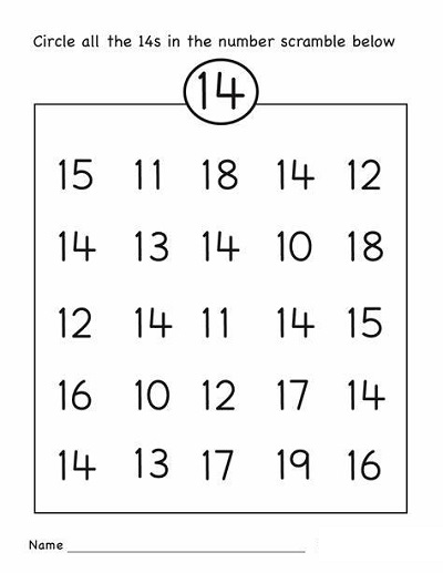Free Printables For 4 Year Olds Number Identification