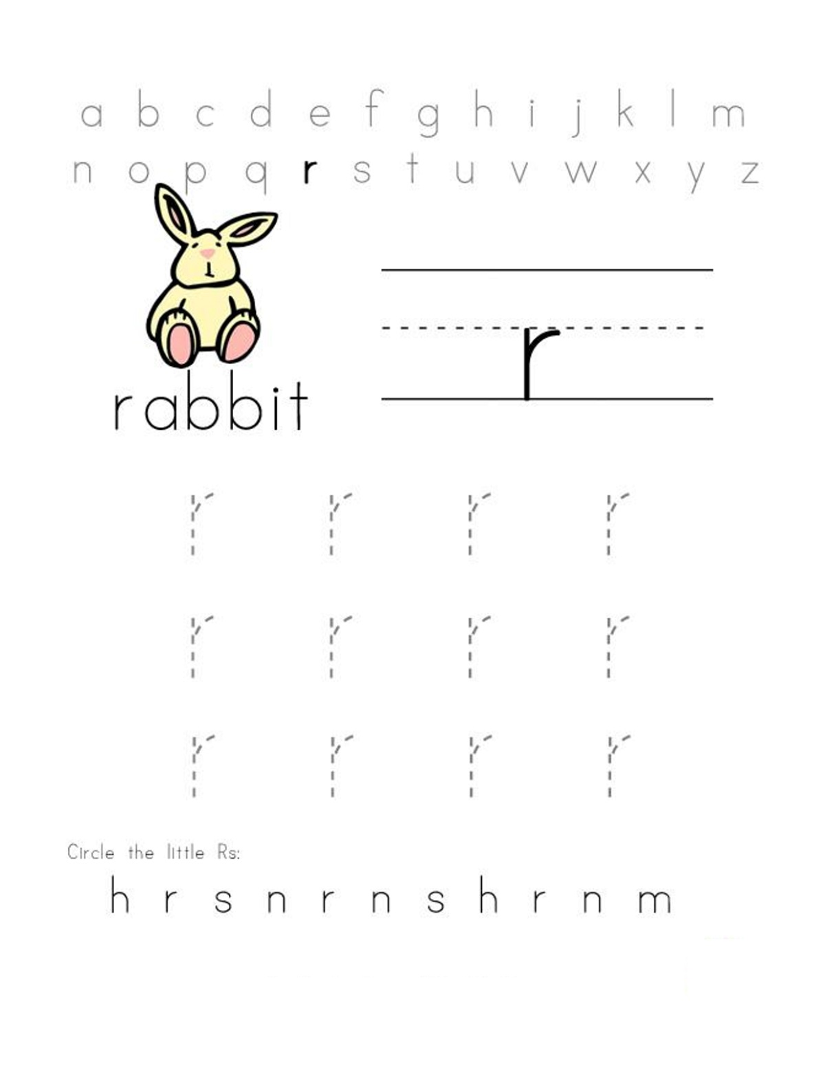 Free Printables For Toddlers Letter