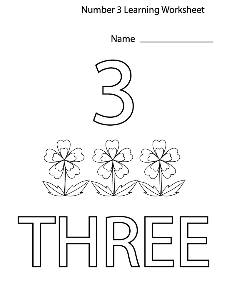 Free Printables For Toddlers Number