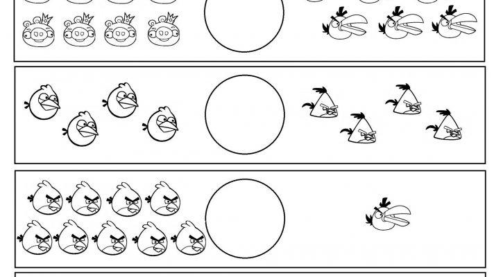 Fun Math Worksheets Angry Bird