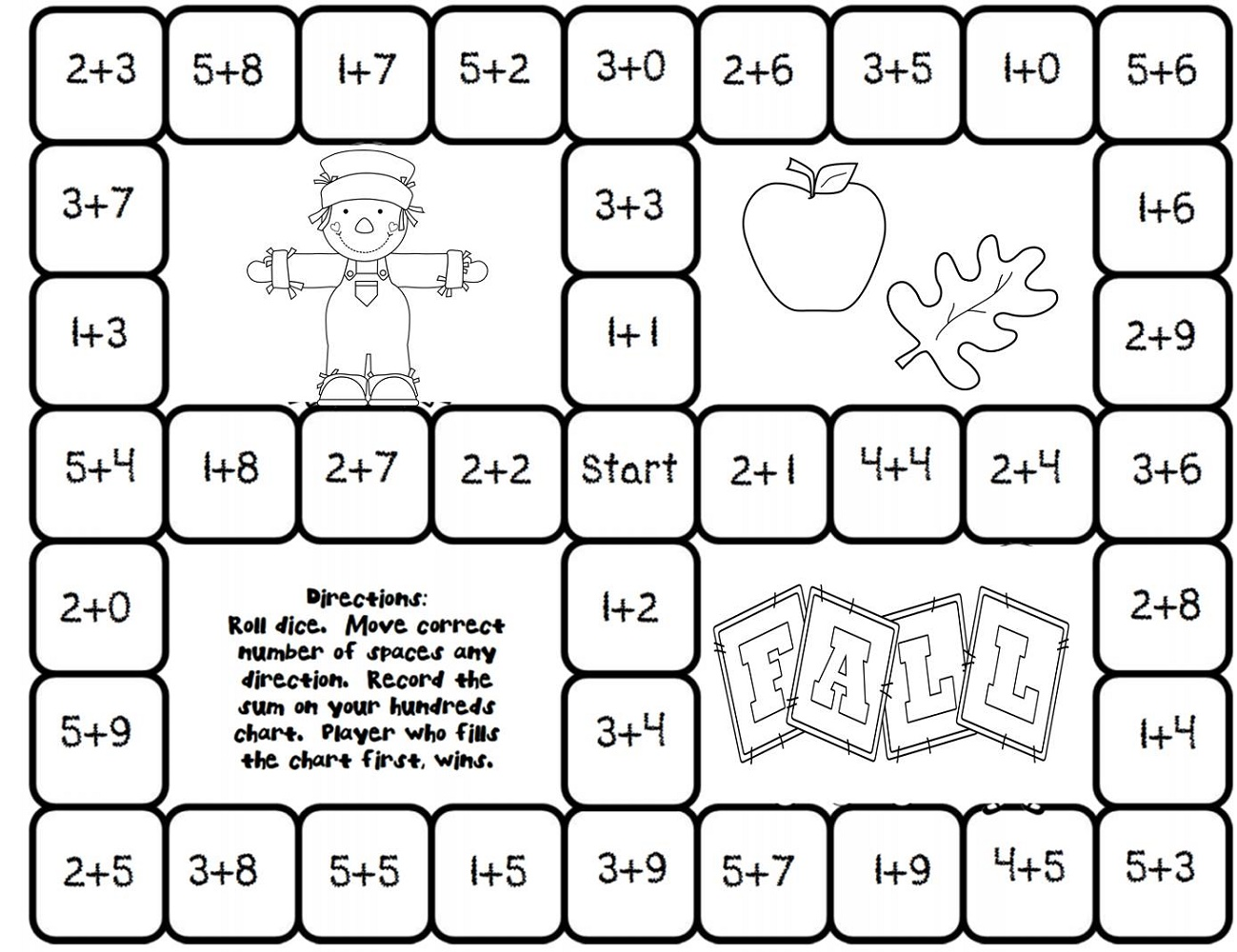 Fun Math Worksheets Dice Games