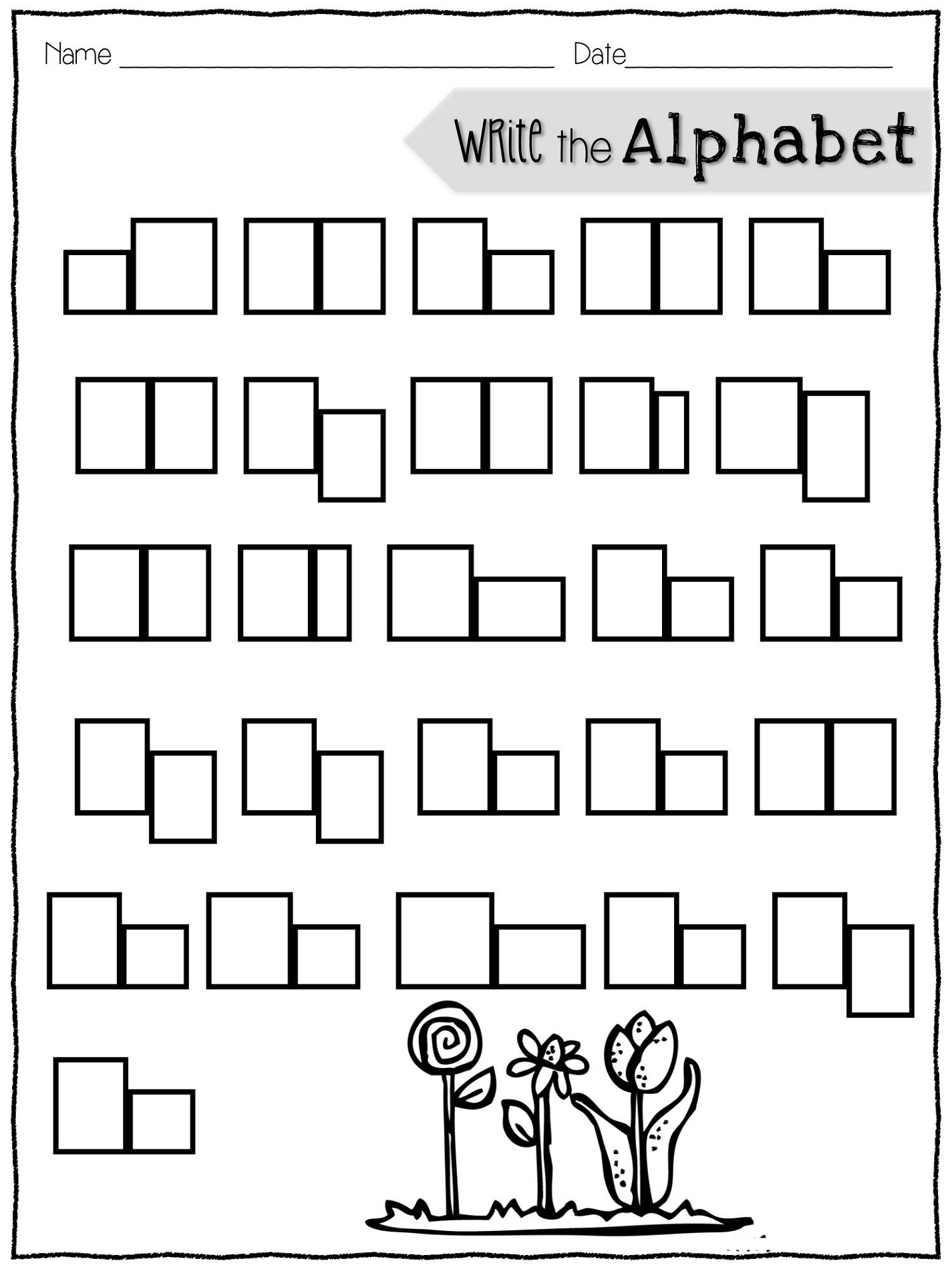 Fun Worksheets For Elementary Students Alphabet