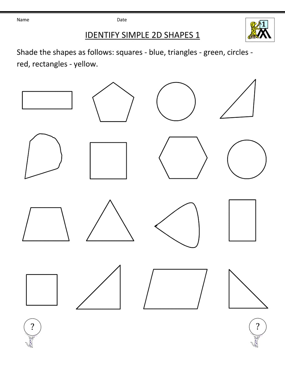 Fun Worksheets For Elementary Students Shapes