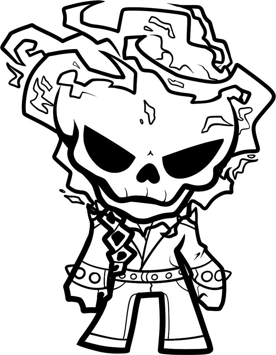 Ghost Rider Coloring Pages Cartoon