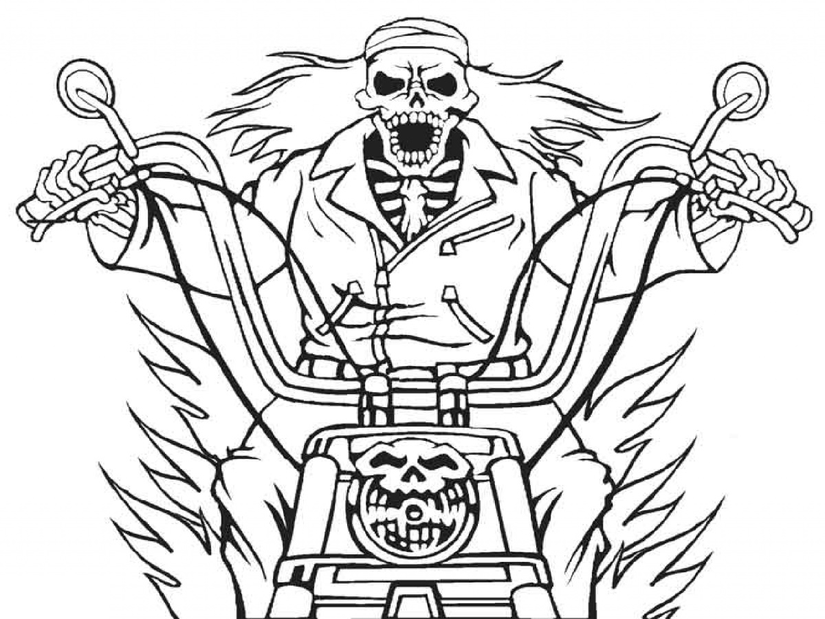 Ghost Rider Coloring Pages Printable
