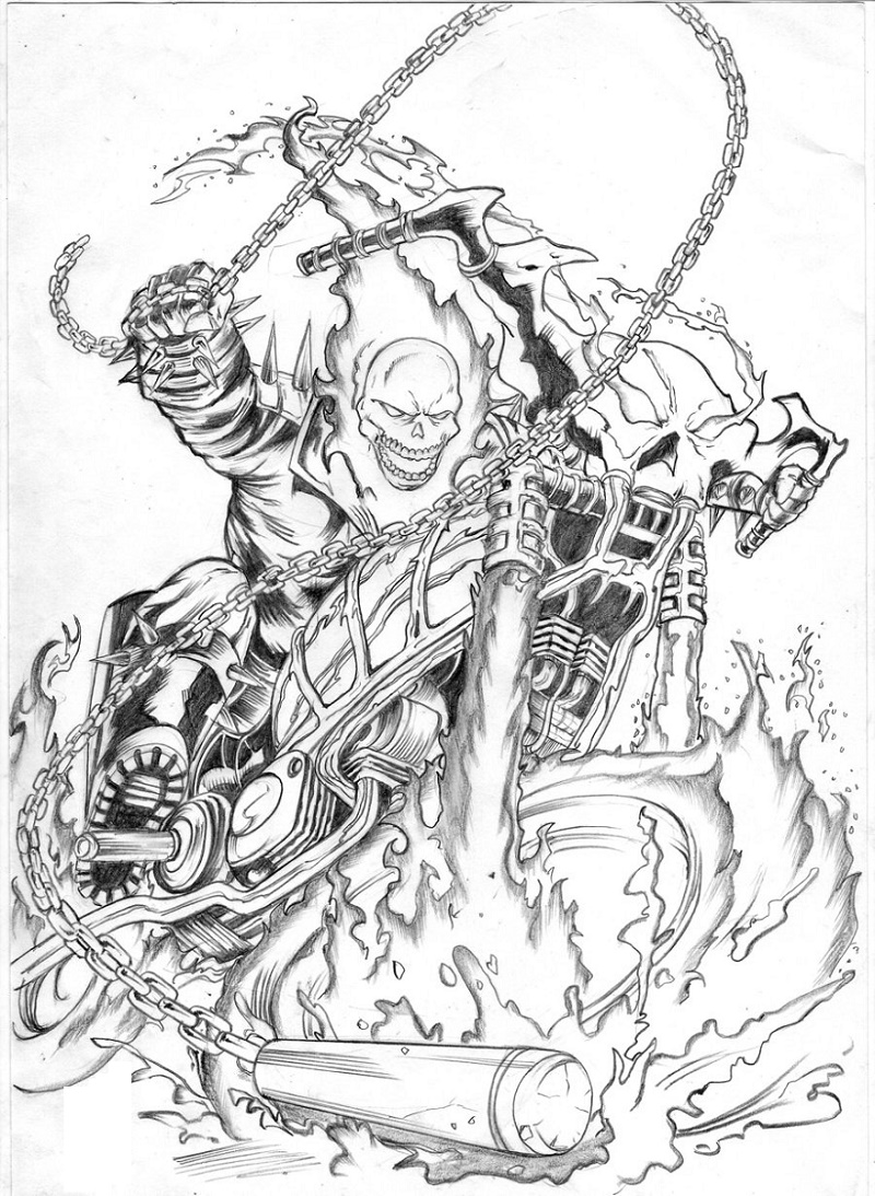 Ghost Rider Coloring Pages To Print