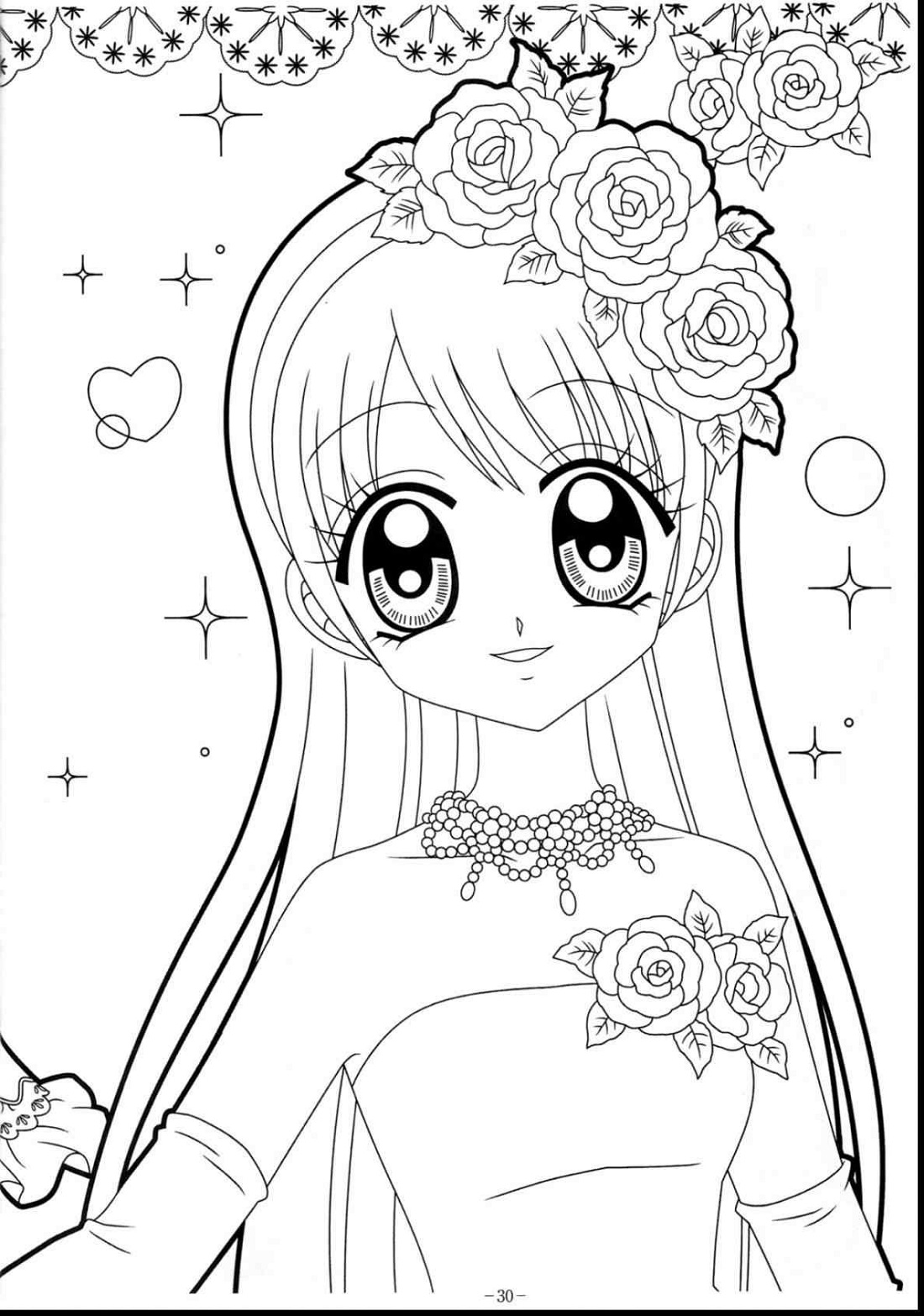 Girls Coloring Book Anime