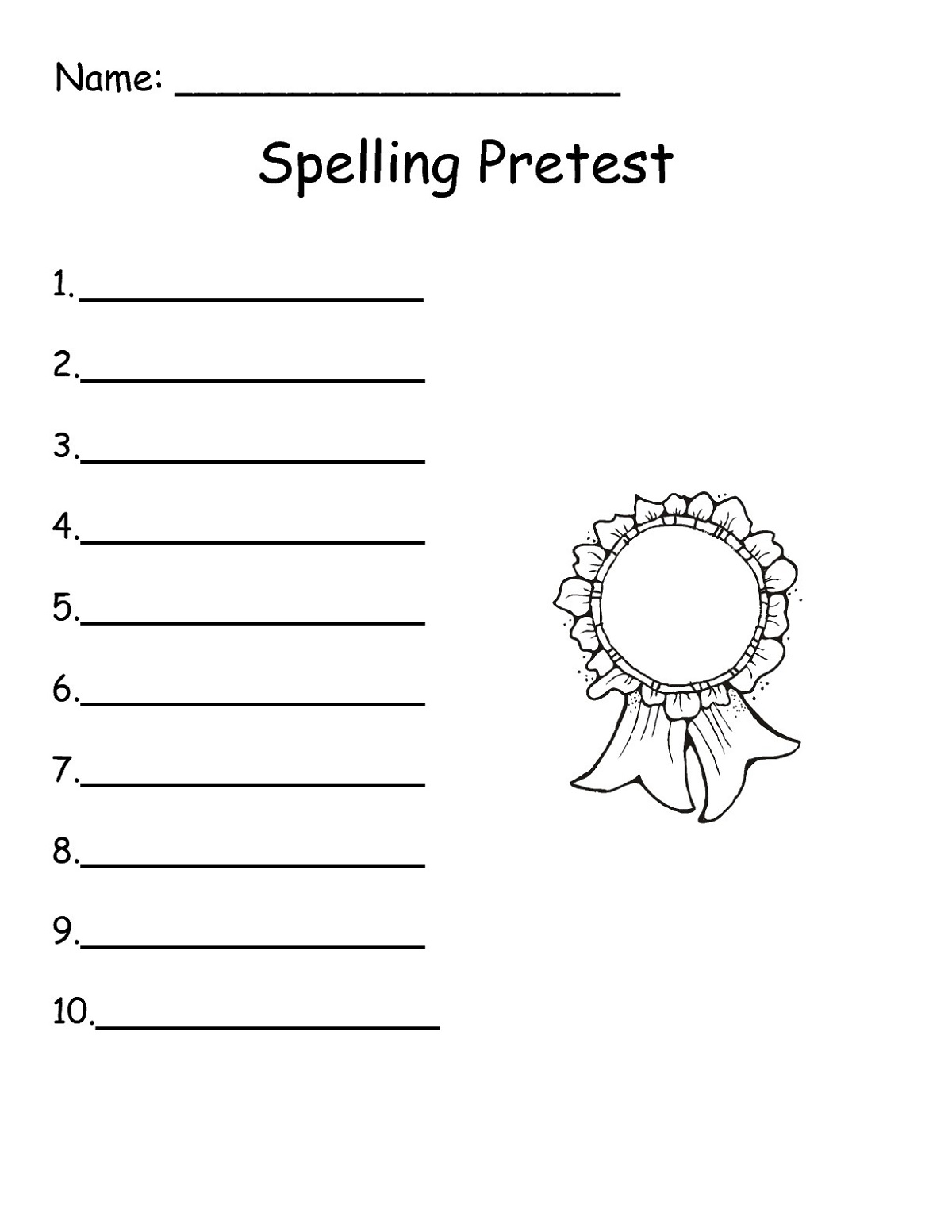 Grade Prep Worksheets Spelling