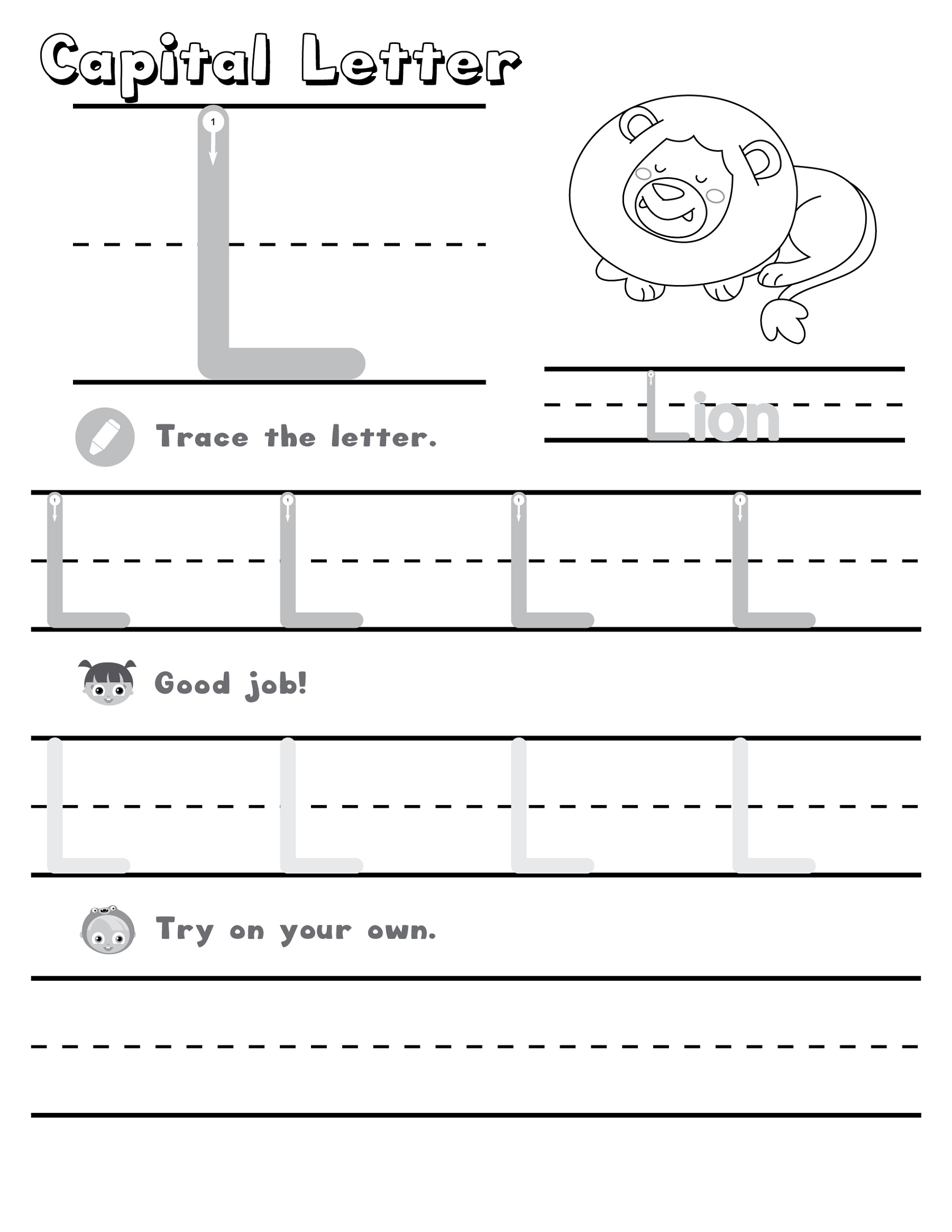Homework Worksheets Letter