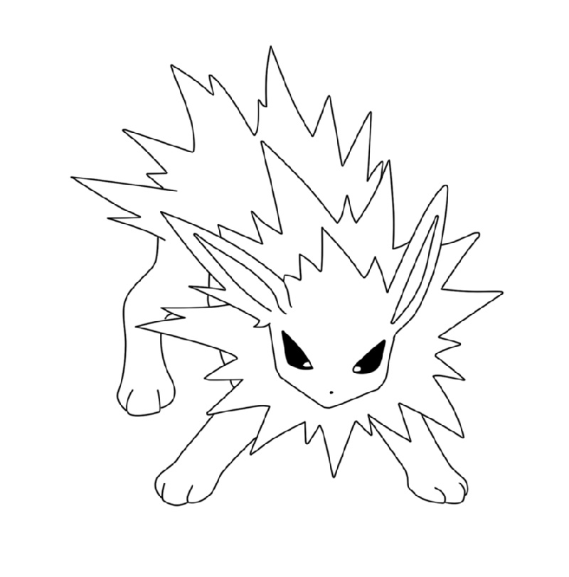 Jolteon Coloring Pages Free