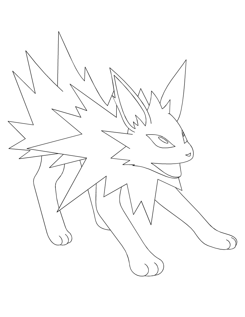 Jolteon Coloring Pages Outline