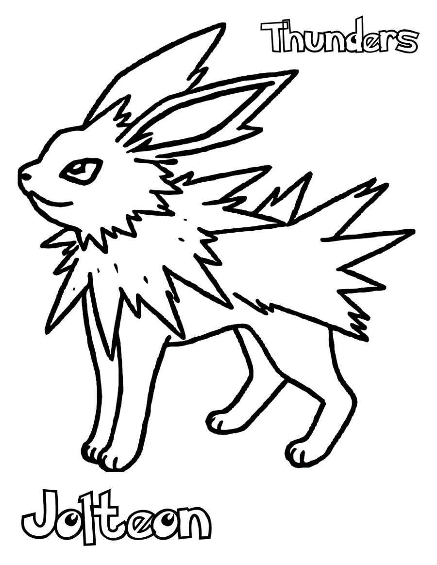 Jolteon Coloring Pages Pokemon