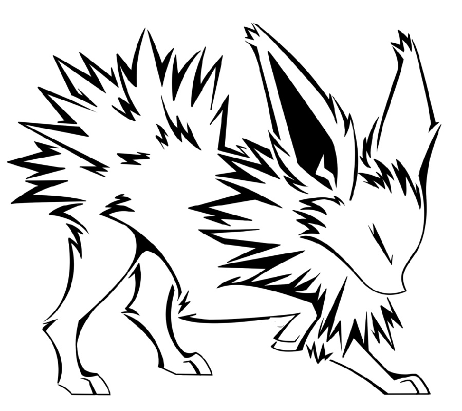 Jolteon Coloring Pages Printable
