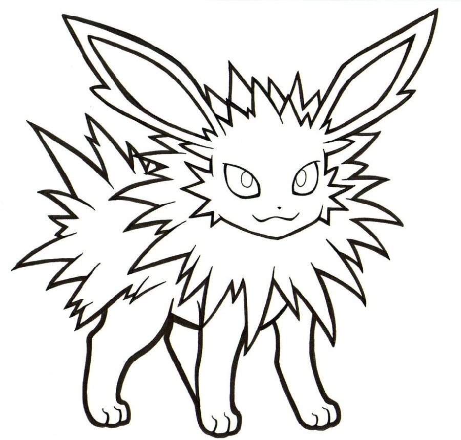 Jolteon Coloring Pages To Print