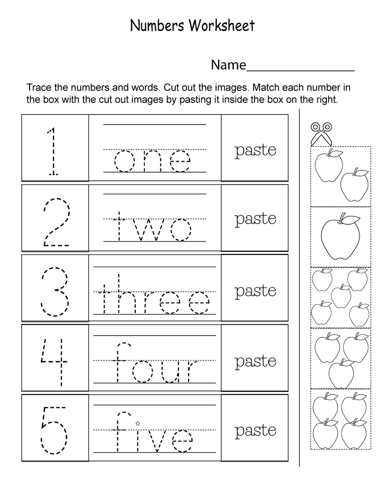 Kids Learning Worksheets Numbers