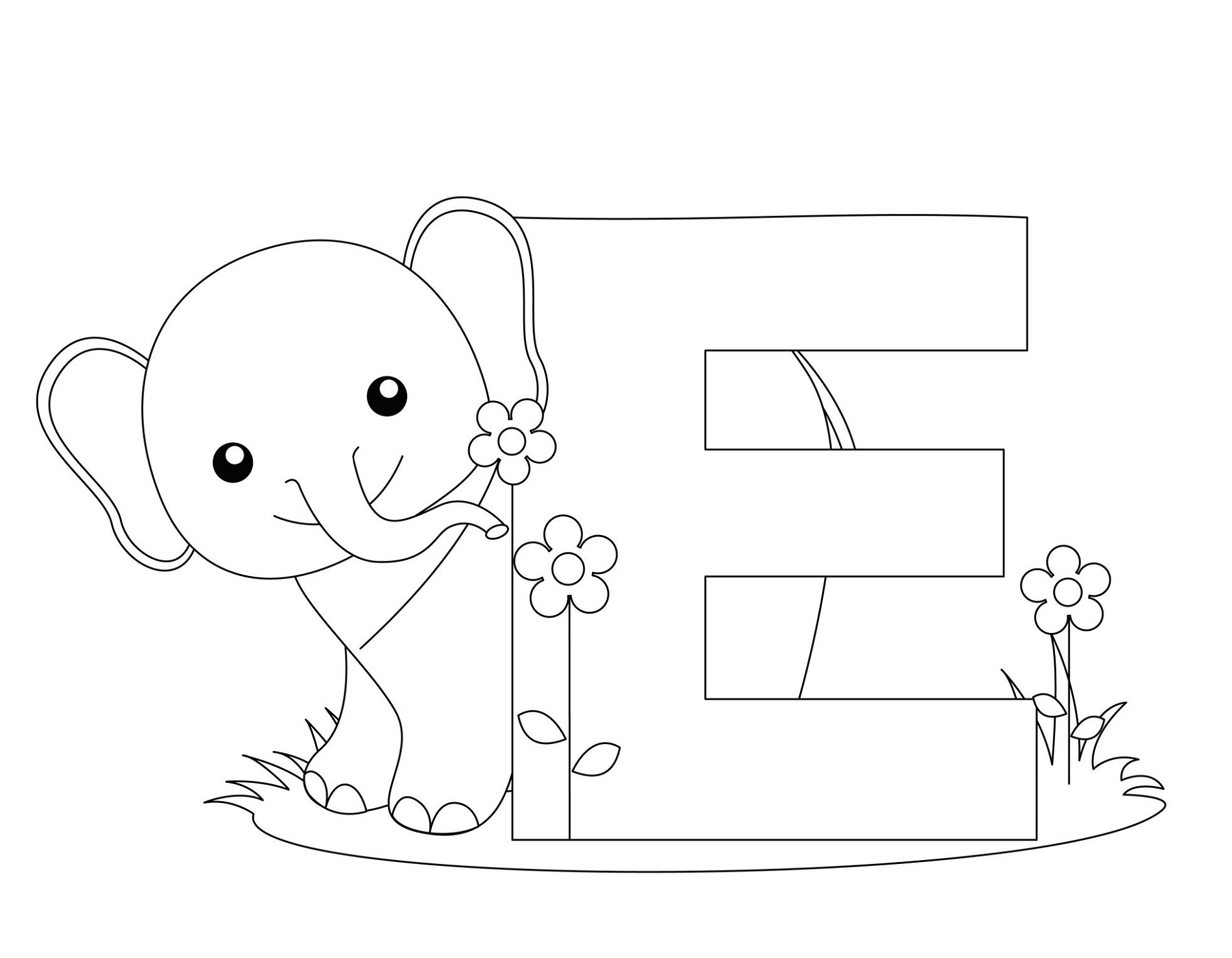 Kindergarten Coloring Pages Alphabet