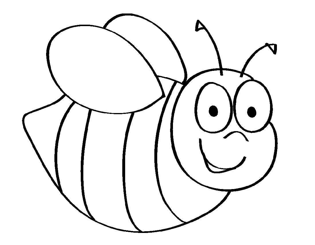Kindergarten Coloring Pages Bee