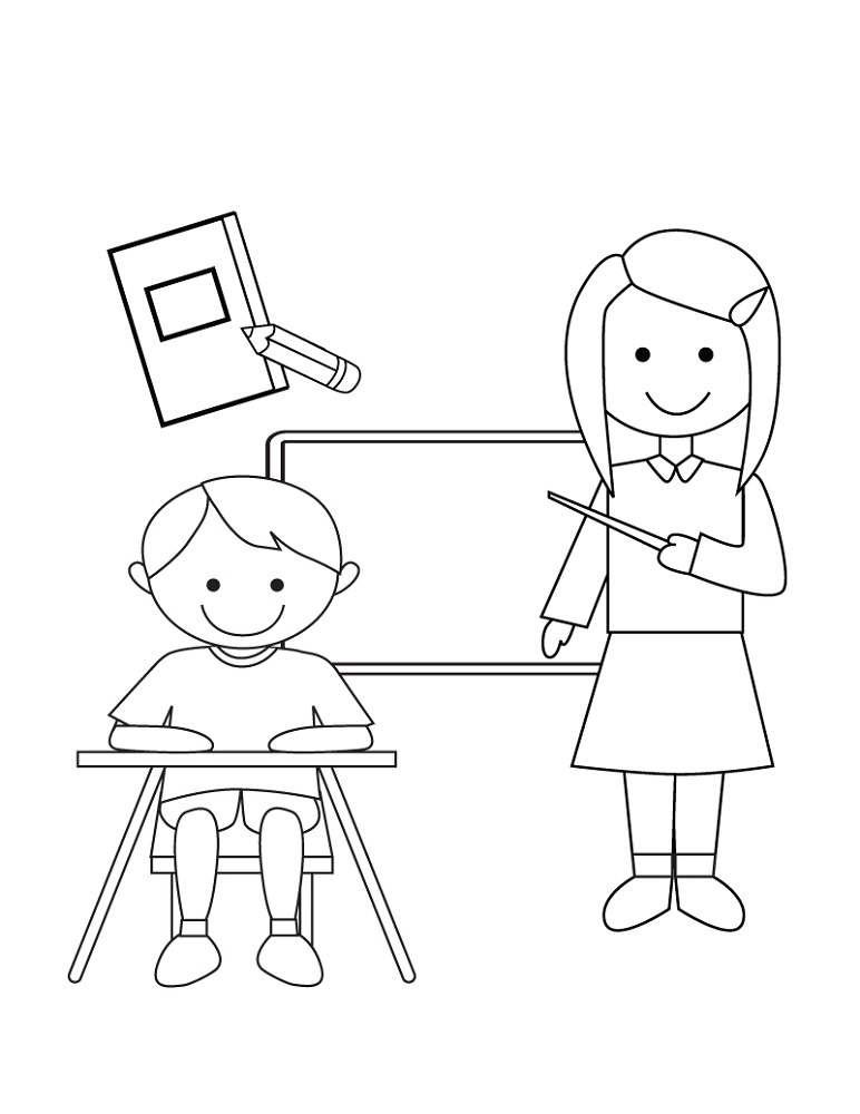 Kindergarten Coloring Pages Learning