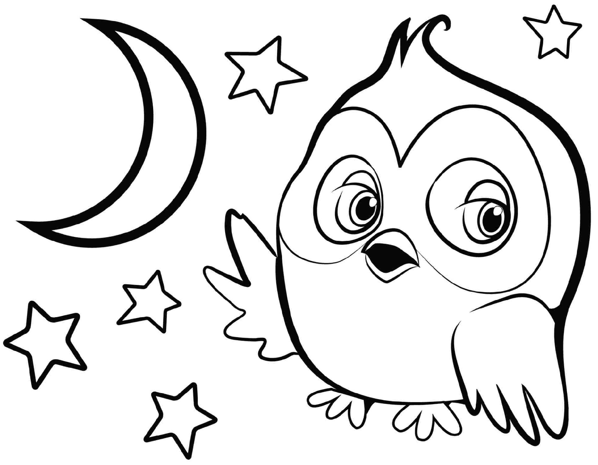 Kindergarten Coloring Pages Owl