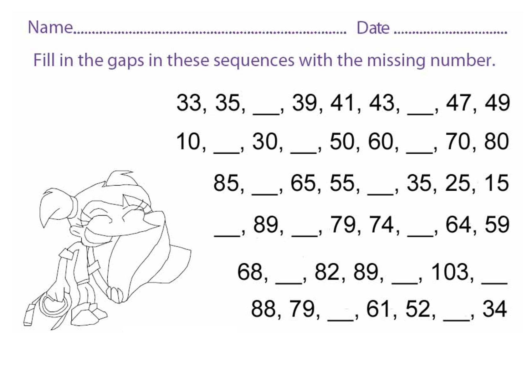 Ks1 Printable Worksheets Number