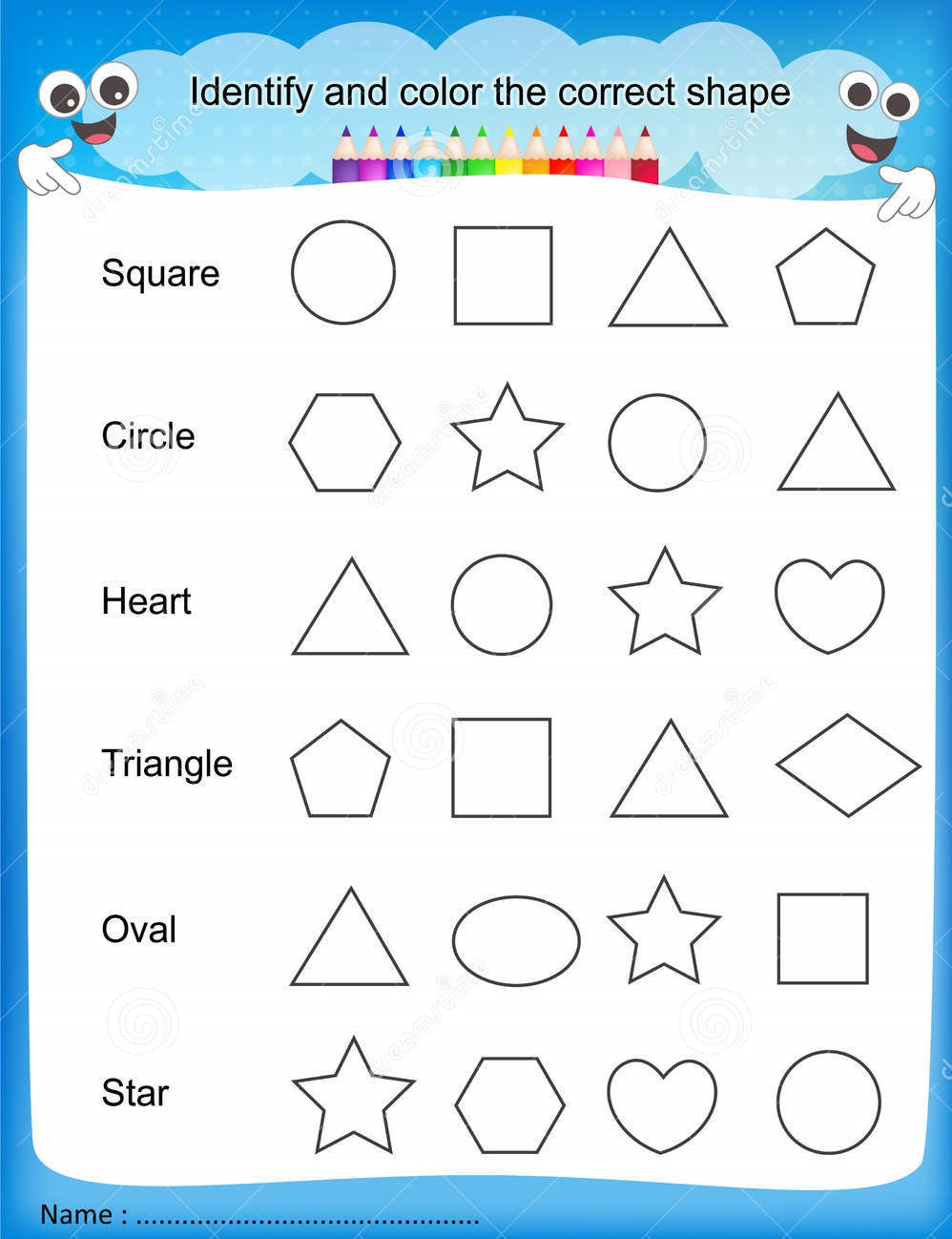 Learning Activities for Preschoolers Printables Shapes