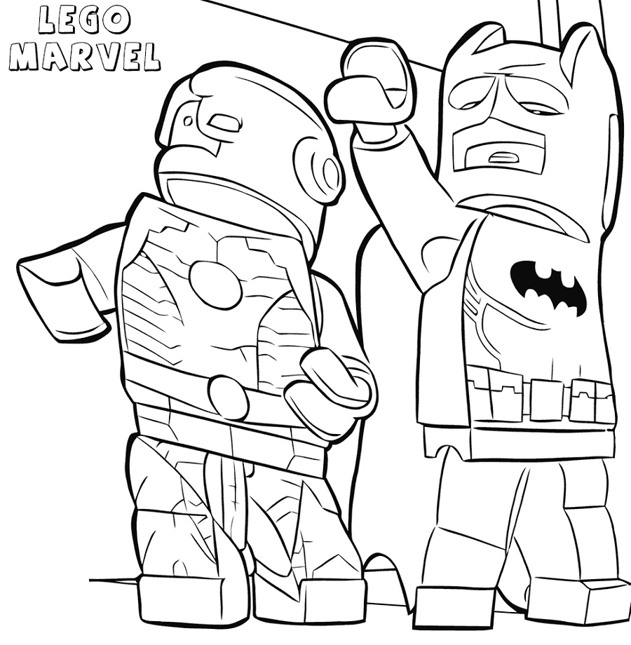 Lego Iron Man Coloring Pages And Batman