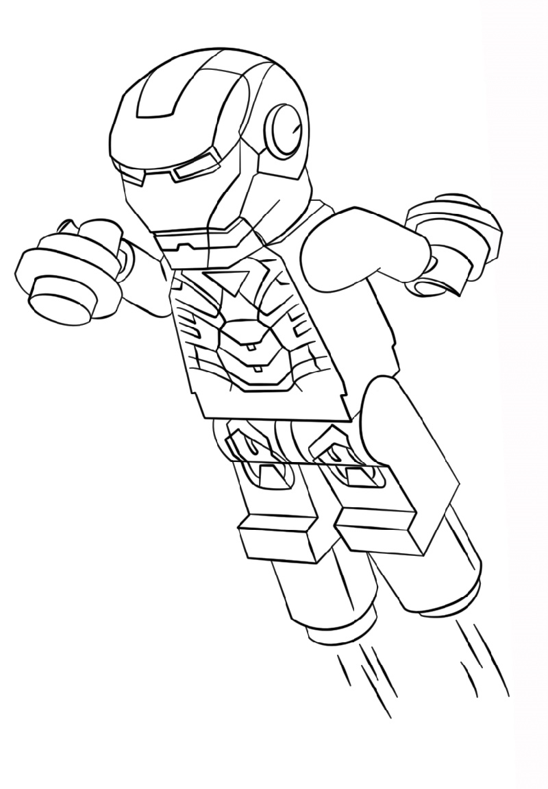 Lego Iron Man Coloring Pages Free
