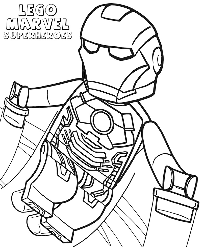Lego Iron Man Coloring Pages Superhero