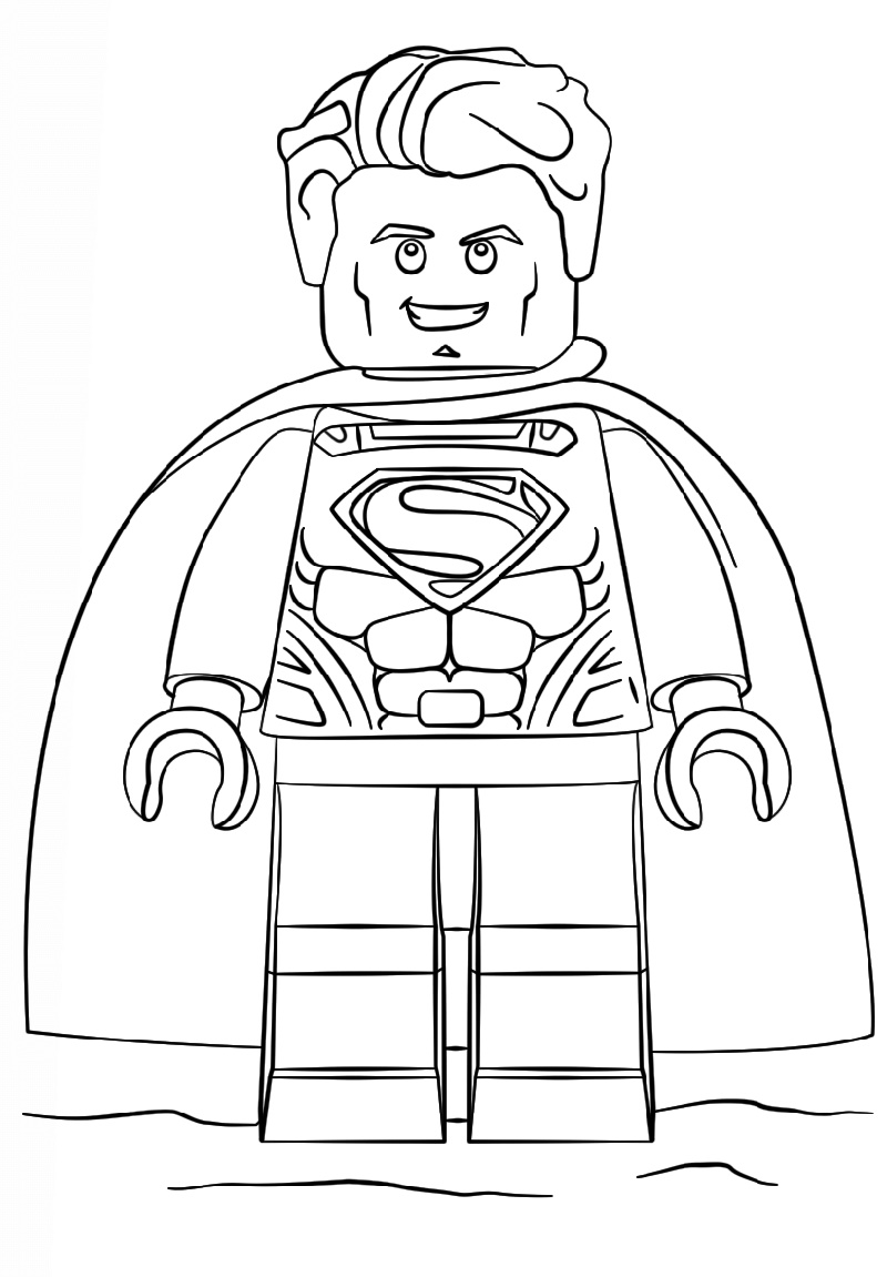 Lego Superman Coloring Pages Free