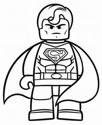 Lego Superman Coloring Pages Movie