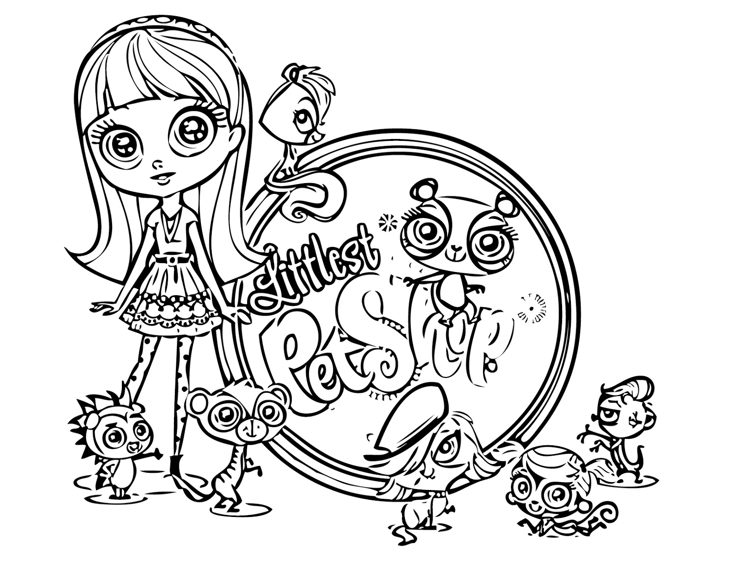 Littlest Pet Shop Coloring Pages Free