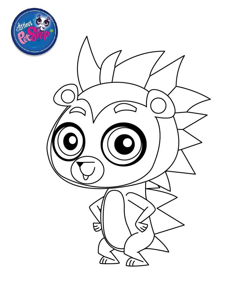 Littlest Pet Shop Coloring Pages Russel Ferguson