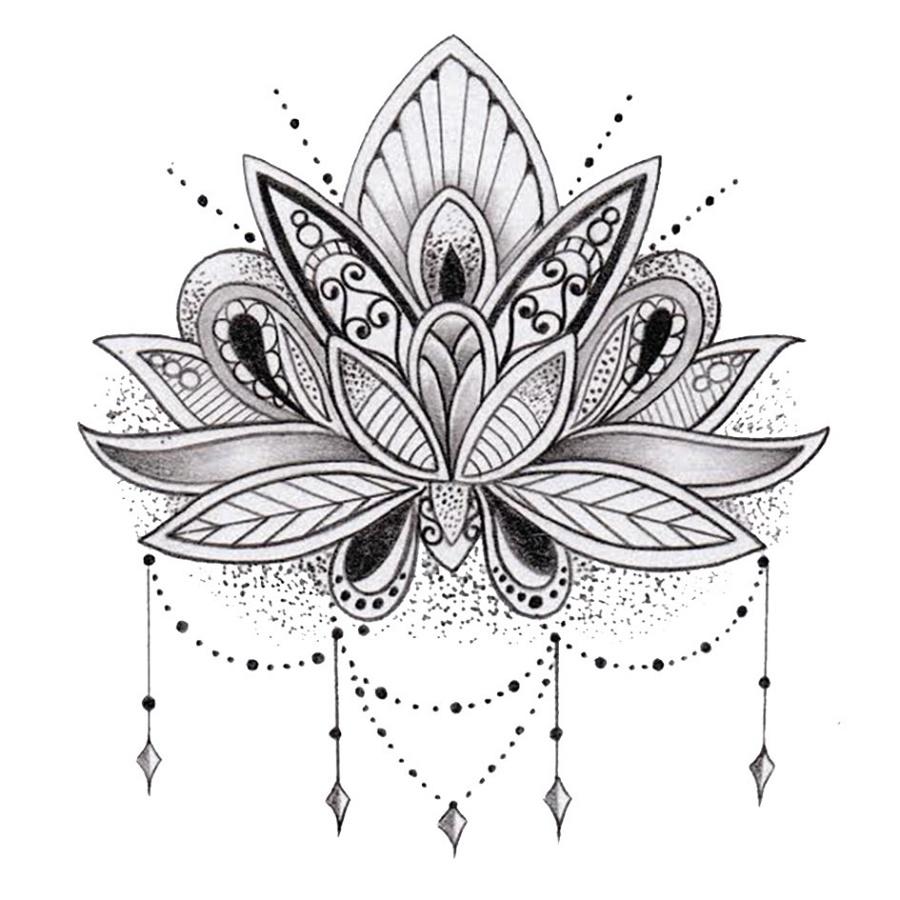 Lotus Flower Coloring Page Mandala