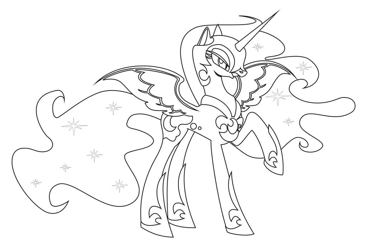 MLP Coloring Pages Nightmare Moon