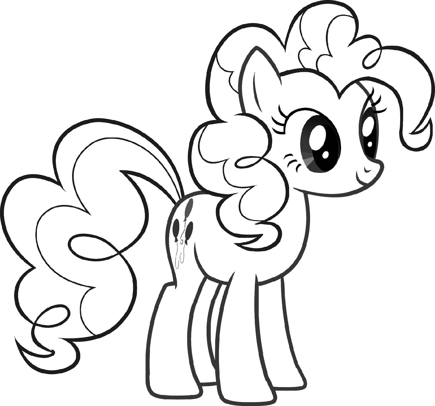 MLP Coloring Pages Pinkie Pie