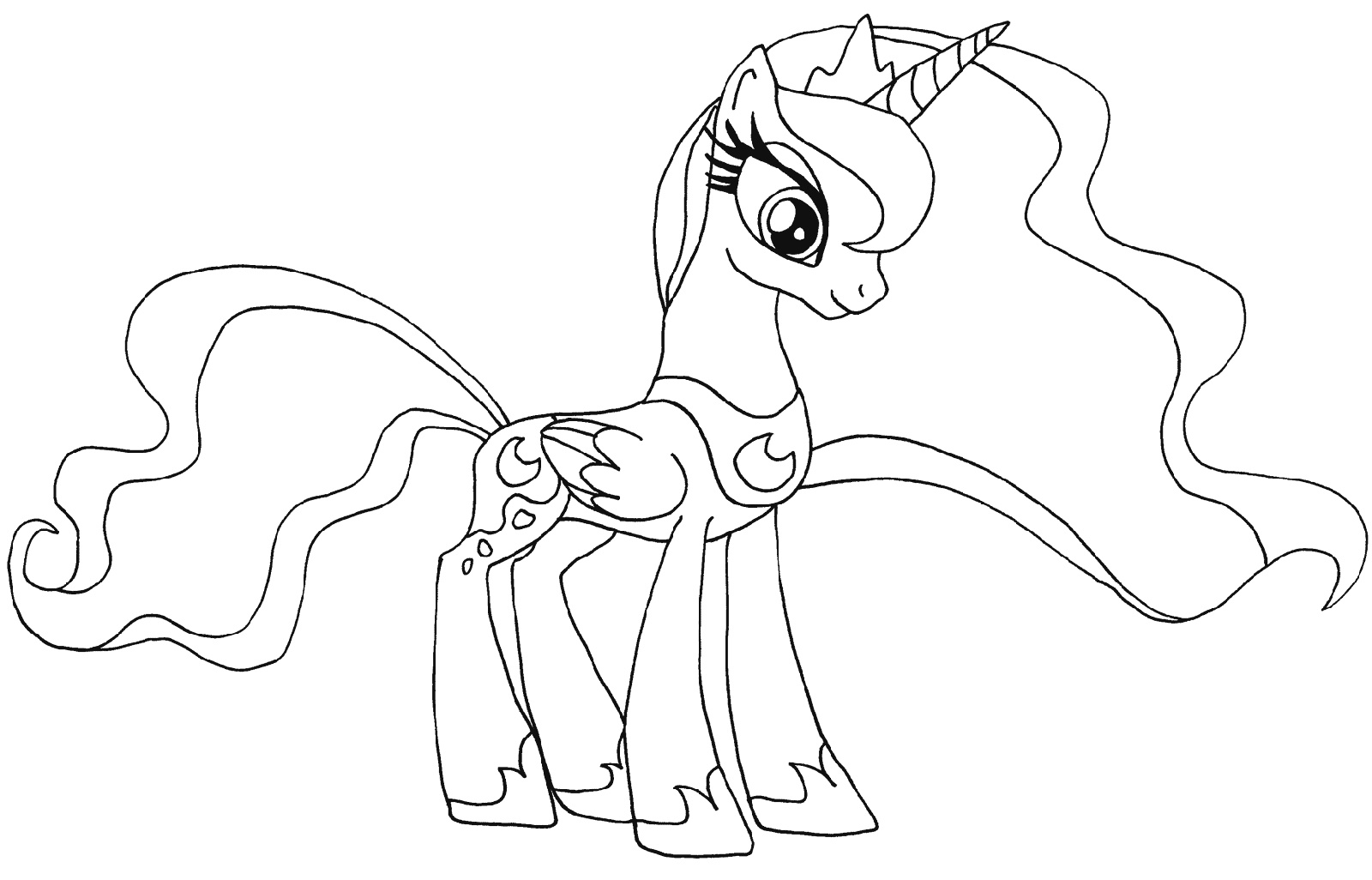 MLP Coloring Pages Princess Luna