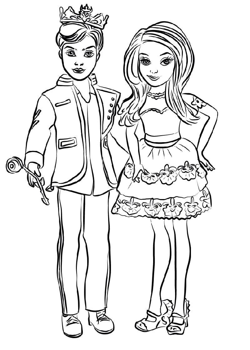 Mal Coloring Pages And Ben