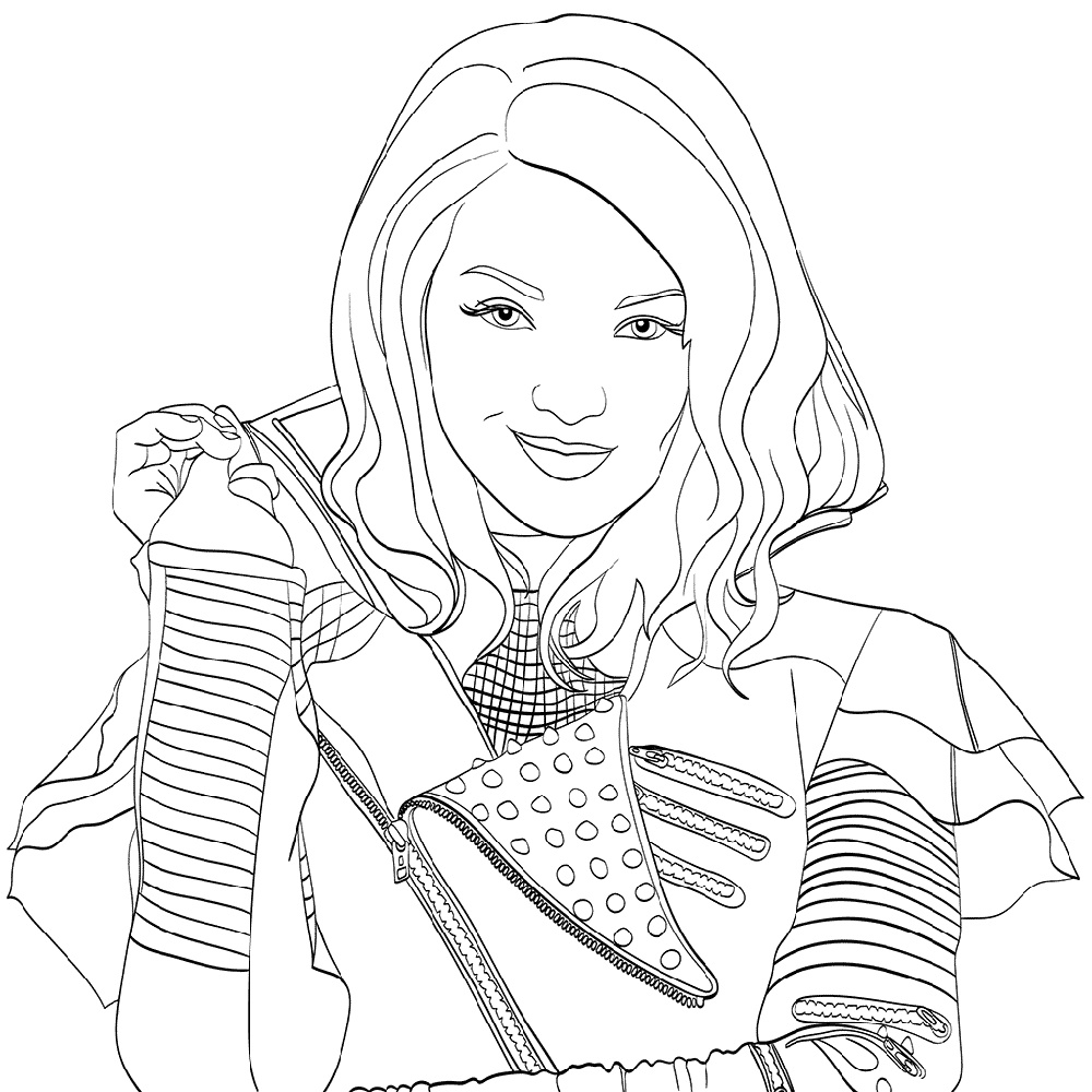 Mal Coloring Pages Disney Descendants