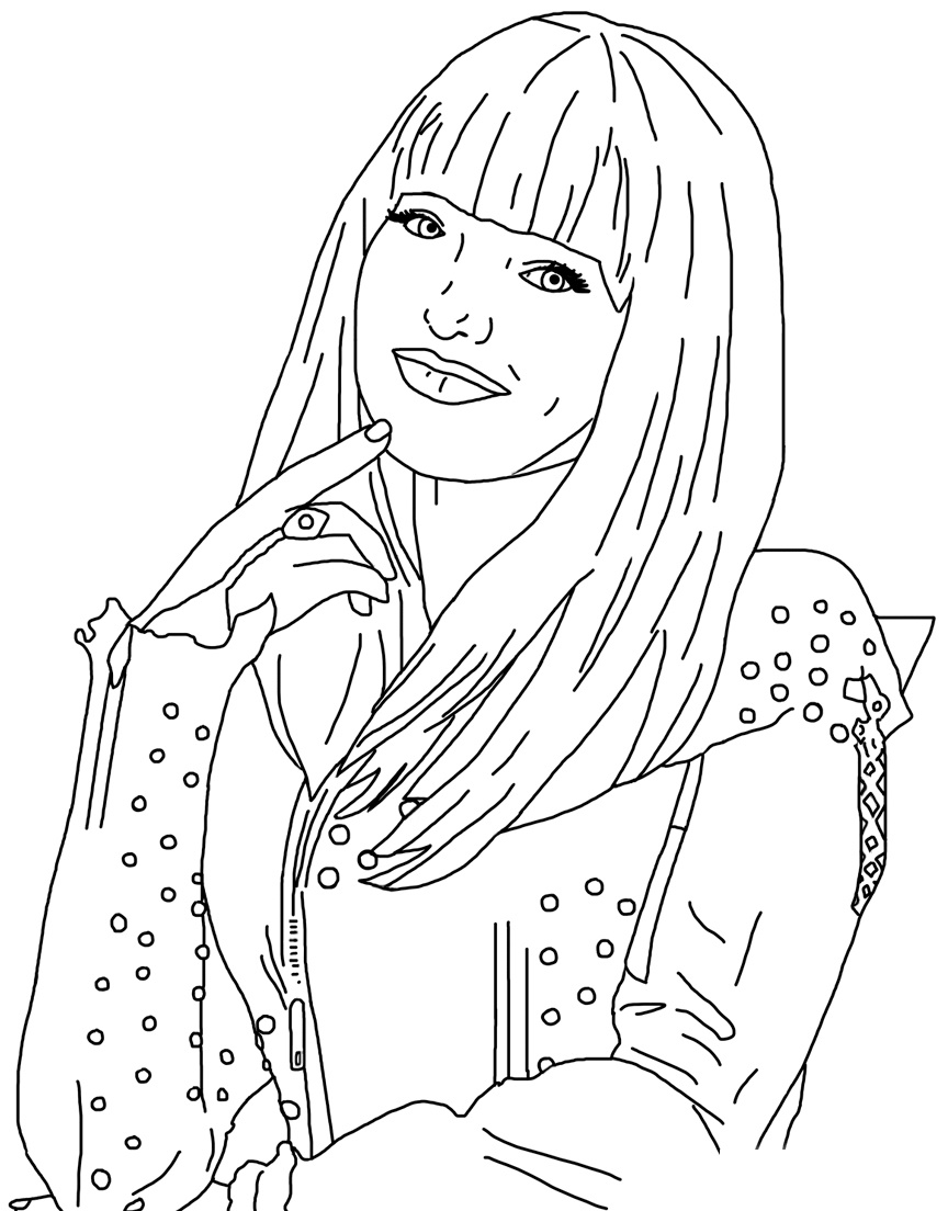 Mal Coloring Pages Free