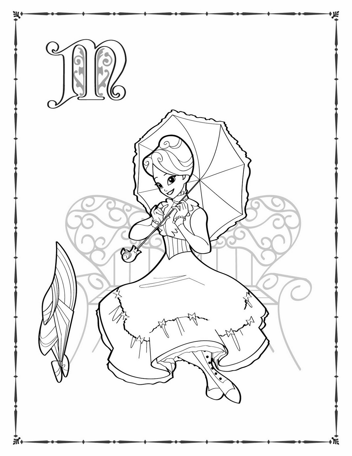 Mary Poppins Coloring Pages Jolly Holiday